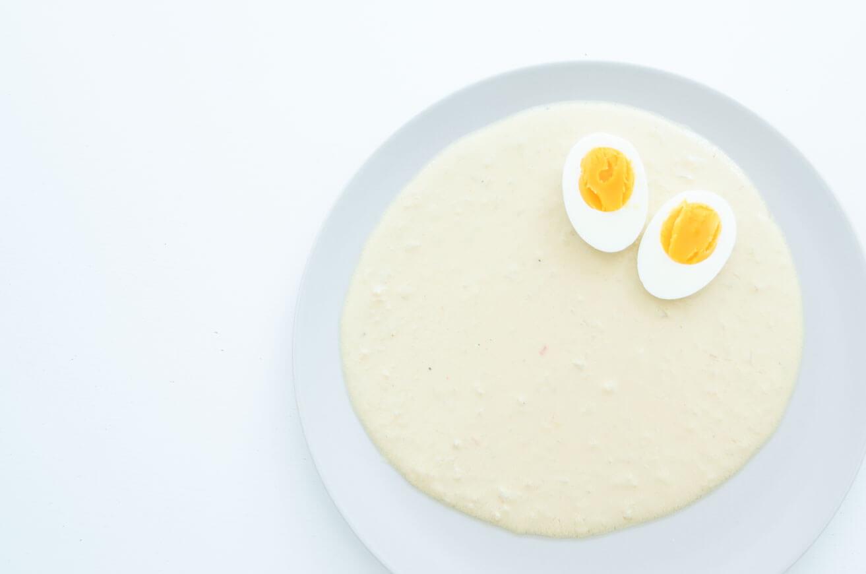 Low carb, low fat: Eier in fettarmer Senfsoße, ohne Mehlschwitze und sehr senfig