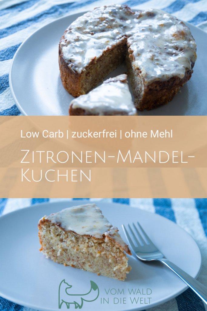 Low Carb: Zitronen-Mandel-Kuchen, zuckerfrei, ohne Mehl, super saftig und lecker