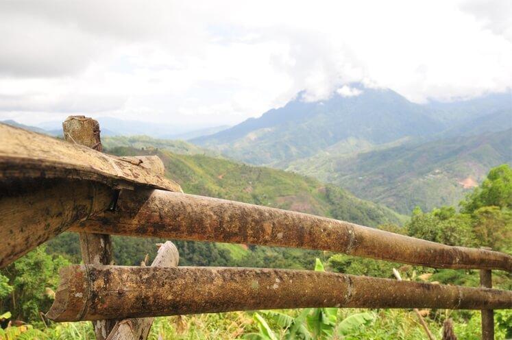Fotos: Reise: Malaysia in Asien, Blick auf einen Vulkan